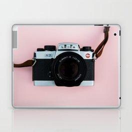 Camera on Blush Pink Background Laptop & iPad Skin