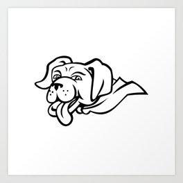 Labrador Retriever Dog Wearing Cape Mascot Art Print