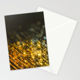 across the particle fields Stationery Cards
