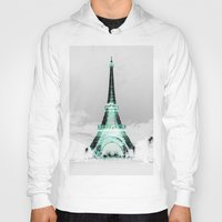 paris Hoodies featuring pariS Black & White + Mint by 2sweet4words Designs