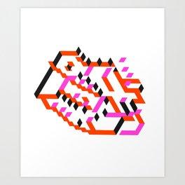 Slide pink Art Print