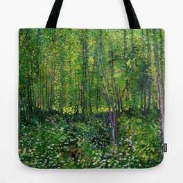 Vincent Van Gogh Trees & Underwood Tote Bag