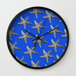 Starfish Blue Wall Clock