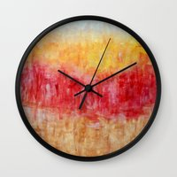 the strokes Wall Clocks featuring Strokes by Bonnie J. Breedlove