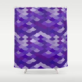 Ultra Violet wave, abstract simple background with japanese seigaiha circle pattern Shower Curtain