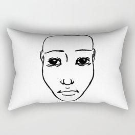 Portrait N&B Rectangular Pillow