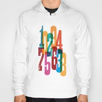 numbers Hoodies featuring Numbers by Marco Campedelli