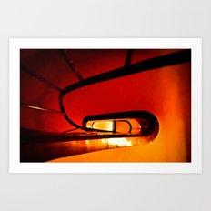 las escaleras Art Print