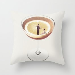 My drink needs a drink Throw Pillow