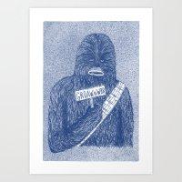 Chewie Art Print