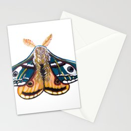Blue Yellow Moth- Insect  Stationery Cards