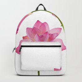 Lotos Waterlilies Flowes pink Backpack