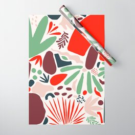 Matisse Inspired Abstract Cut Outs Wrapping Paper