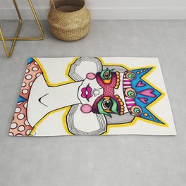 JennyMannoArt Colored Illustration/The Queen Rug