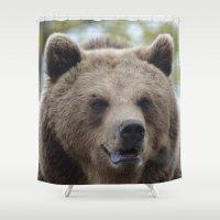 swedish Shower Curtains featuring Swedish bear by ilsephilips