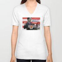 american psycho V-neck T-shirts featuring American Psycho - 3 by Marko Köppe