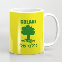 israel Mugs featuring Israel Defense Forces - Golani Warrior by crouchingpixel