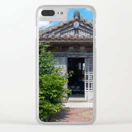 Traditional house in Okinawa Clear iPhone Case
