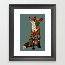 fox love Framed Art Print