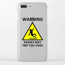 Warning Snakes May Trip You Over Clear iPhone Case