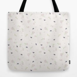 Birds in Purple Tote Bag