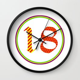 OLD ENGLISH Modern -  2018 - Pop Art Wall Clock