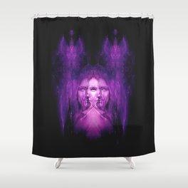 Hemispheres - reloaded - purple Shower Curtain
