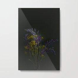 Camassia bouquet - dark mood flower photography Metal Print