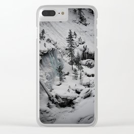 Snowy Slopes Clear iPhone Case