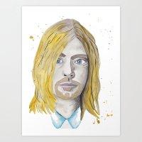 kurt rahn Art Prints featuring Kurt by ElmStStudio