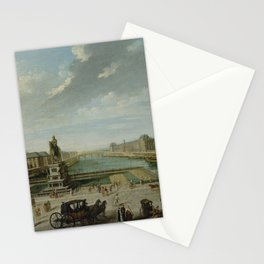 Nicolas-Jean-Baptiste Raguenet - A View of Paris from the Pont Neuf Stationery Cards