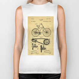 Bicyole Support Patent Drawing From 1890 Biker Tank