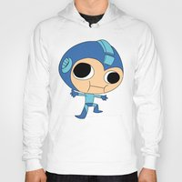 megaman Hoodies featuring Silly Megaman by oshio