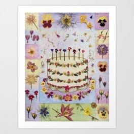 Birthday Cake Card Art Print