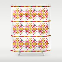 ethnic Shower Curtains featuring Eastern Ethnic  by VessDSign