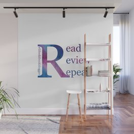 Read, Review, Repeat Wall Mural