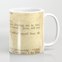 jane eyre Mugs featuring Jane Eyre, Mr. Rochester First Marriage Proposal by Charlotte Bronte by ForgottenCotton