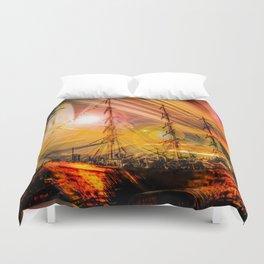 Romance of sailing Duvet Cover