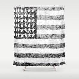 Grunge American Flag Shower Curtain