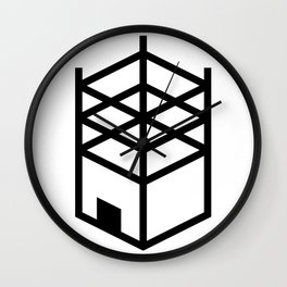 Building in Construction Wall Clock