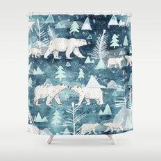 Ice Bears Shower Curtain