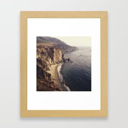 Cliffs of Big Sur Framed Art Print