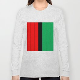 Kwanzaa Red Black Green Stripes Long Sleeve T-shirt