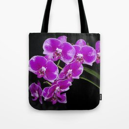 Graceful spray of deep pink orchids Tote Bag
