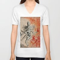 shiva V-neck T-shirts featuring Shiva by Maithili Jha