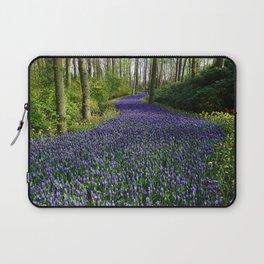 Purple Flowers Forest Laptop Sleeve
