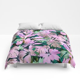 Tropical Night Magenta & Emerald Jungle Comforters
