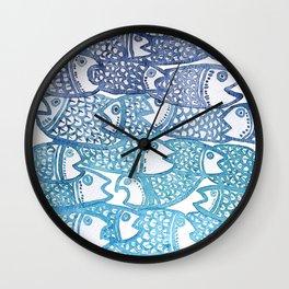 Peixinho azul Wall Clock