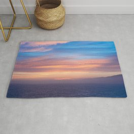 Blue Dreams Sunset - Ocean Sunset, Landscape, Scenery, Beautiful Orange Yellow Rug