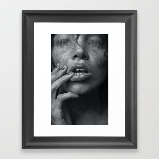 Eaten B&W Framed Art Print